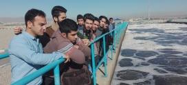 Visiting municipal Water treatment site – Saveh